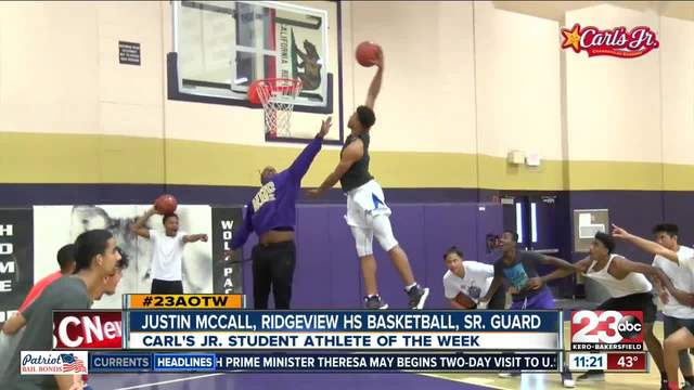Male Athlete of the Week- Justin McCall