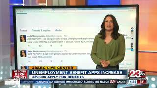 Unemployment apps increase