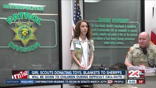 Girl Scouts donate comfort items to KCSO