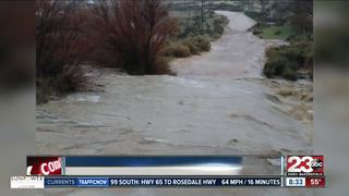 Flooded roadways keep some residents from home