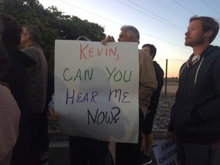 March, counter protest held near McCarthy's home