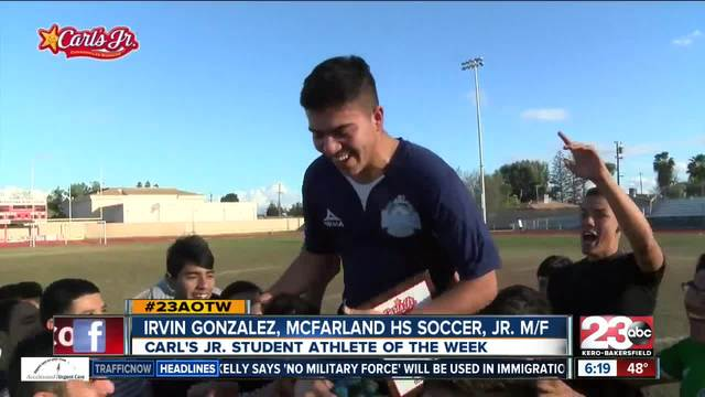 Male Athlete of the Week- Irvin Gonzalez