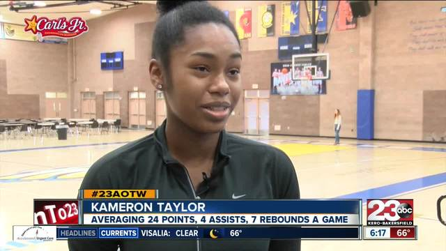 Female Athlete of the Week- Kameron Taylor