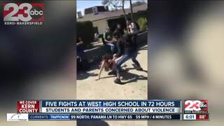 Cell phone video captures West High brawls