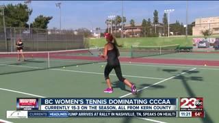 Bakersfield College women's tennis dominating