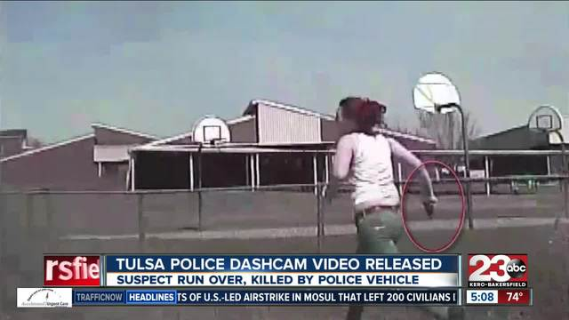 Tulsa police dash cam video
