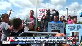 Protestors gather for March for Justice
