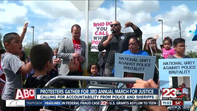 Protestors gather for 3rd annual March for Justice