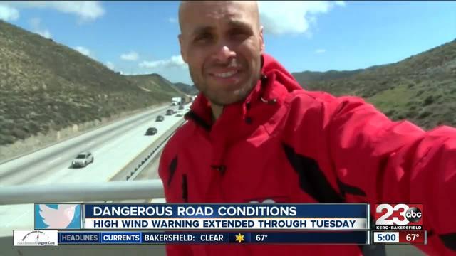High Wind Warning through I-5 in Kern County