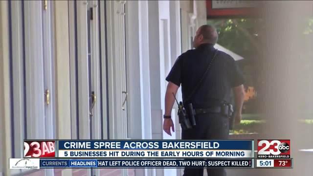 Crime spree across Bakersfield