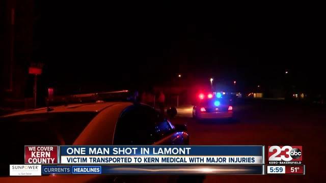One man shot in Lamont