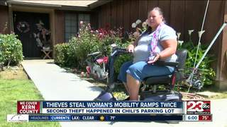 Thieve's steal woman's mobility ramps twice