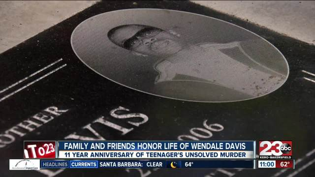 Wendale Davis honored by family and friends 11 years after murder