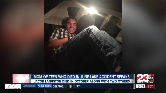 Mom of teen who died in June Lake accident speaks