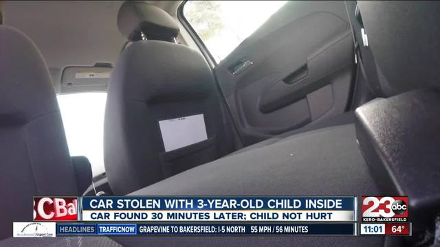 Car stolen with 3-year-old child inside