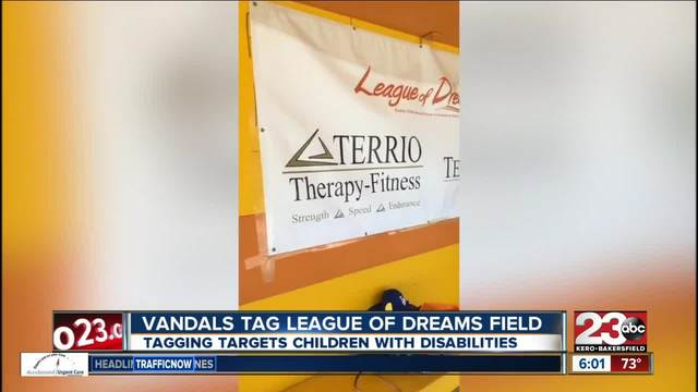 League of Dreams field vandalized