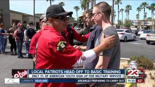 Locals sent off to Basic Military Training