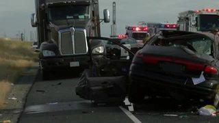1 dead, 3 injured after crash on Highway 65