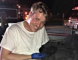 Kitten rescued from Central Bakersfield fire