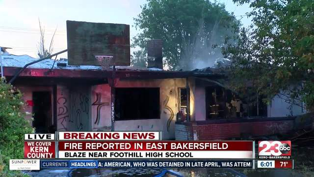 Vacant Home Goes Up In Flames Across From Foothill High School