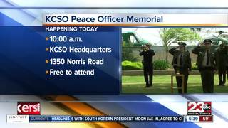Annual Peace Officer Memorial Ceremony today