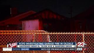 KCFD investigating garage fire