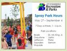 Local spray parks to open this weekend
