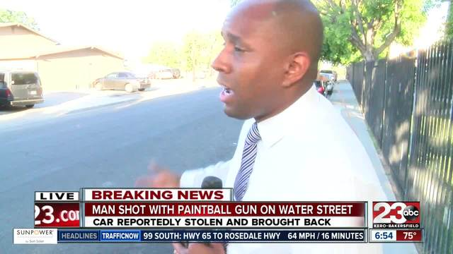 Man shot with paintball gun in East Bakersfield