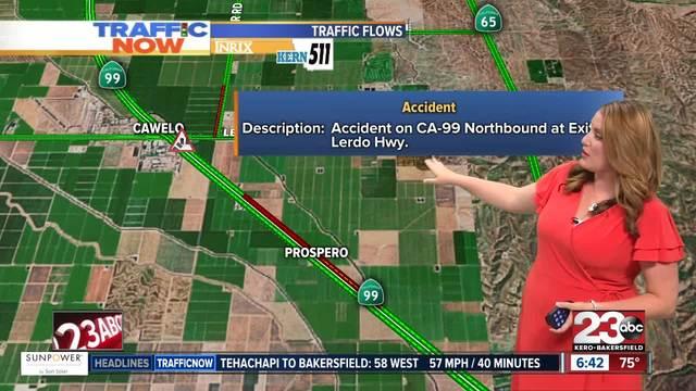 Crash on CA-99 N at Exit 37 Lerdo Highway-