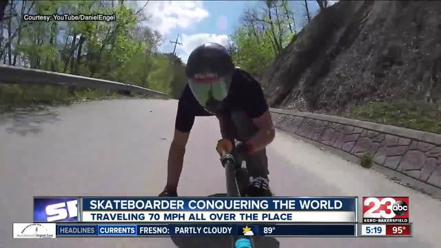 Bakersfield resident Daniel Engel ranked third in the world in downhill…