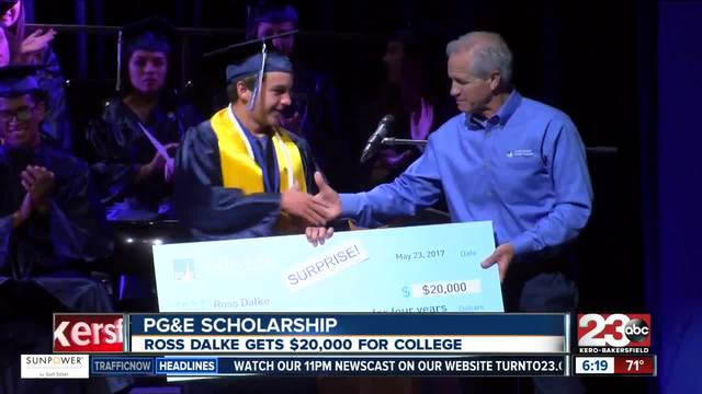 Bakersfield High student surprised with -20K Scholarship