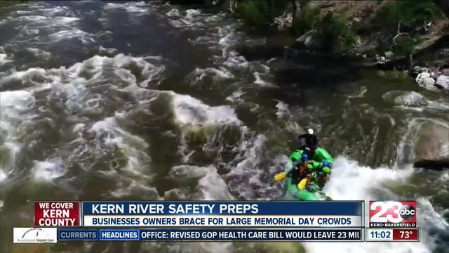 Prepping for Memorial Day with fast flowing Kern River