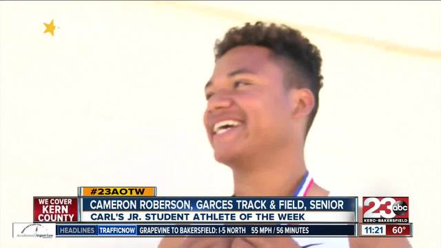 Male Athlete of the Week- Cameron Roberson