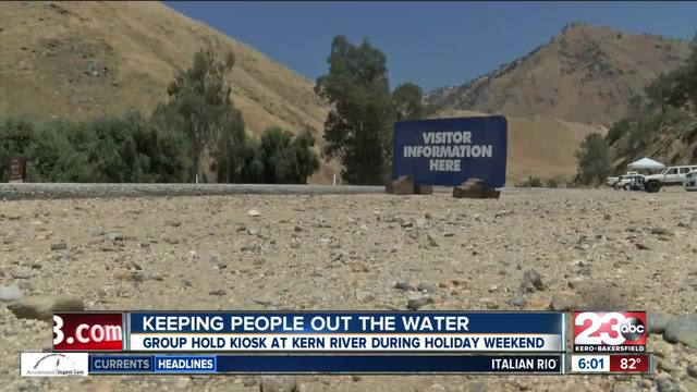 Kiosk set up to raise awareness about dangers of Kern River
