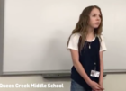 7th grader delivers powerful poem for class