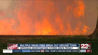 Fire crews battling fires across Kern County