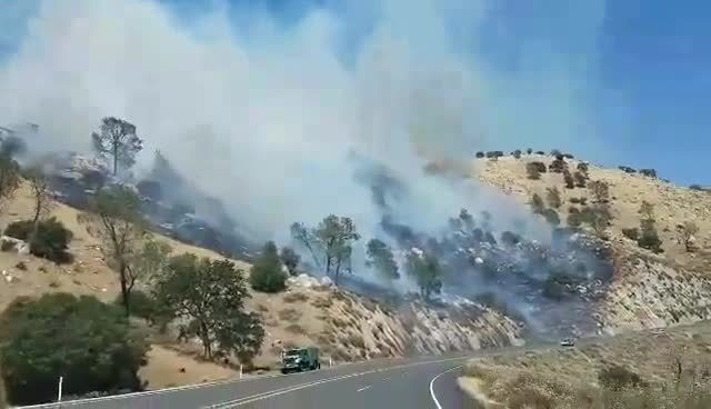 Highway Fire covering 1-500 acres- evacuation orders in place