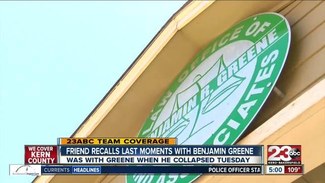 Friend recalls last moments with Benjamin Green