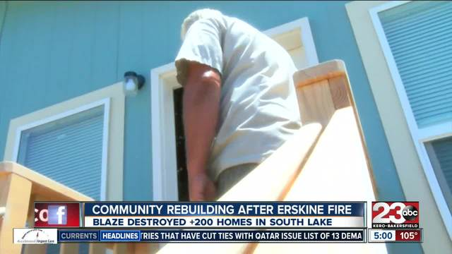 South Lake rebuilding one year after Erskine Fire
