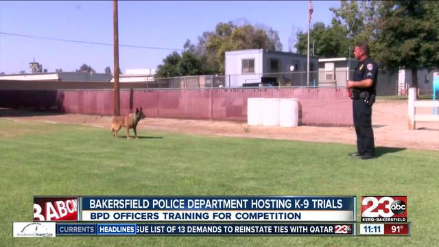 BPD Senior Officer and his K-9 set to compete in BPD K-9 Trials