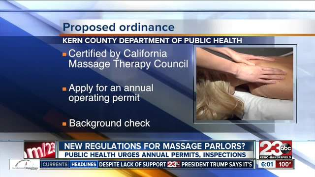New Ordinance would create more regulations for massage parlors in Kern County