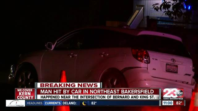 Man hit by car in Northeast Bakersfield