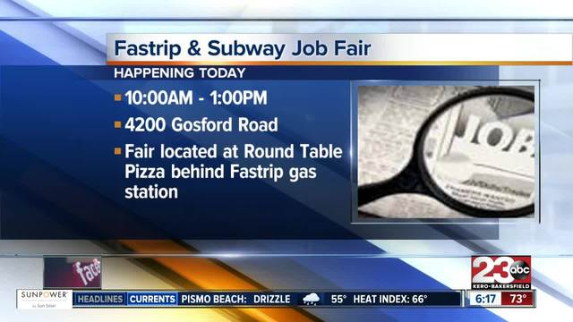 Fastrip and Subway job fair Thursday morning