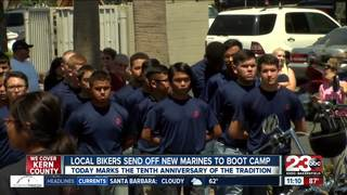 Local bikers send off new marines to boot camp