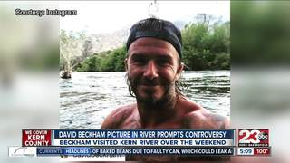 Photo of Beckham in Kern River sparks debate