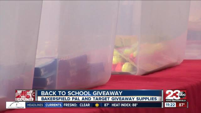 Bakersfield Police Activities League and Target partner up to give kids…