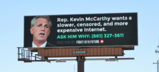 Rep. McCarthy targeted on billboard