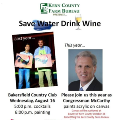 Rep. McCarthy joins Save Water Drink Wine event