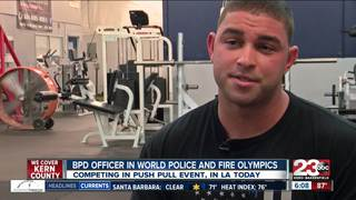 BPD amputee competing in Police & Fire Olympics
