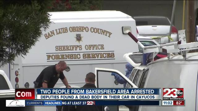 Two people arrested for having a dead body in their car